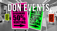 Posters fluor Don Events (Bezorgen via PostNL | BLANCO)