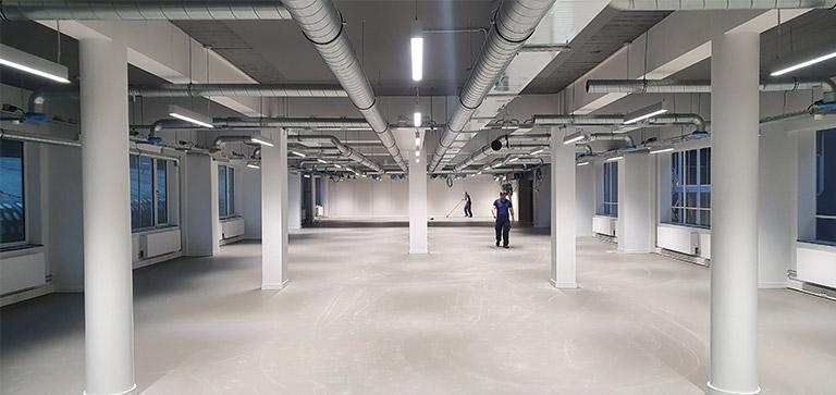 Productie werkvloer nieuwe locatie World Trade Center Rotterdam