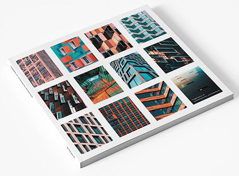 boek softcover vierkant