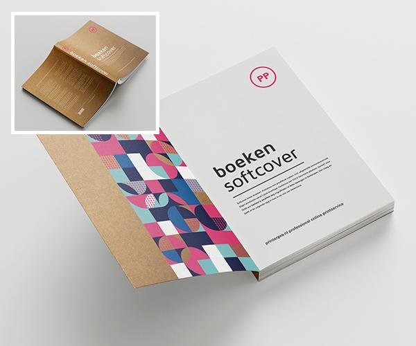 softcover omslag op kraft karton
