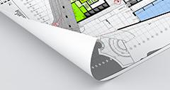 bouwtekeningen houtvrij mat papier