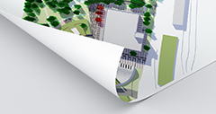 bouwtekeningen gerecycled mat papier