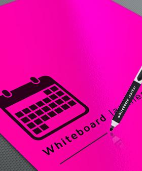 fluor poster met whiteboard laminaat