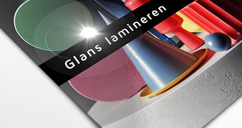 Foto met een glans laminaat coating