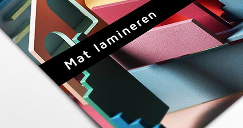 Foto met een mat laminaat coating