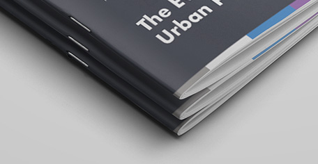 Brochures geniet in de rug
