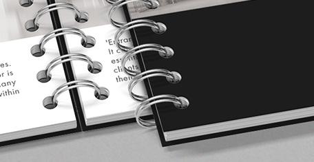 Printen en inbinden met een wire-o