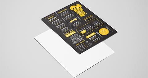 enkelzijdige menukaart