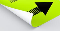 neon gele fluor poster