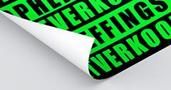 neon groene fluor poster
