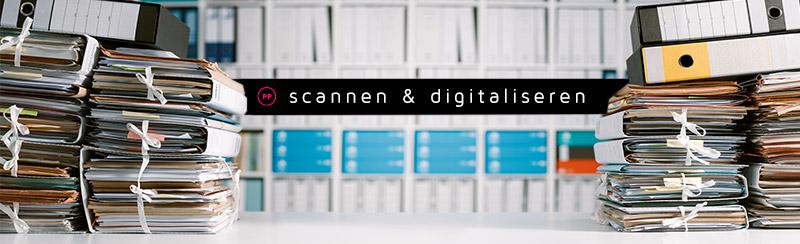 scannen en digitaliseren van archieven en bedrijfsadministraties