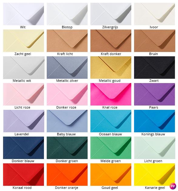 Kaarten printen met envelop